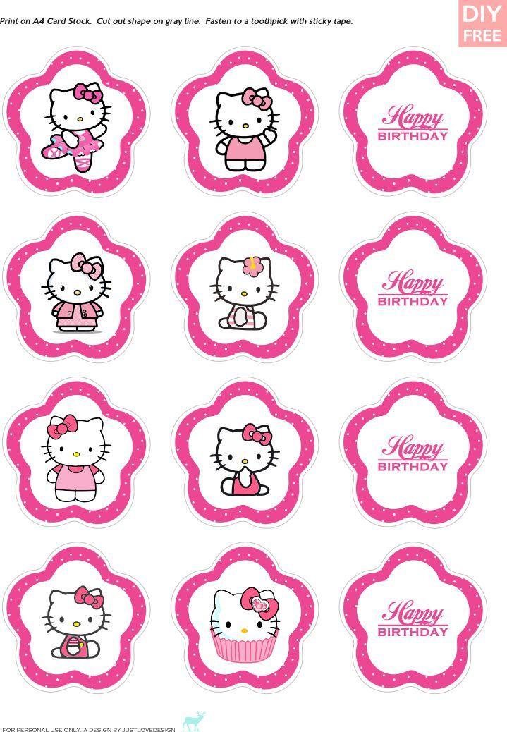 Ideas e imprimibles gratis de la Hello Kitty para fiestas infantiles | Decorar tu casa es facilisimo.com