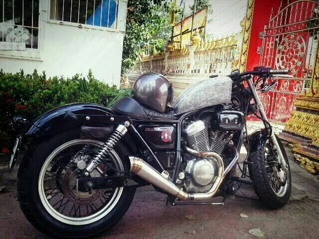 Vrx 400 exaust cafe racer