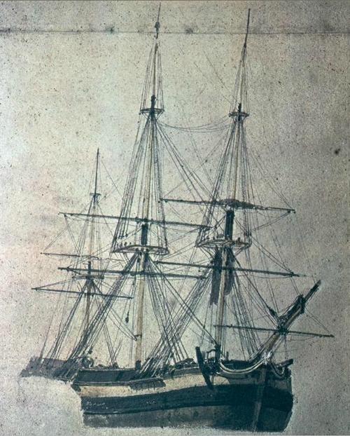 Study of a Sailing Boat, J. M. W. Turner, 1775-1851