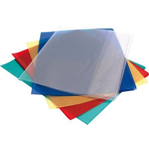 Protège-cahier transparent vert 24x32