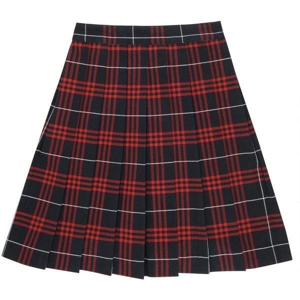 Plaid Pleated Skirt (49 BRL) ❤ liked on Polyvore featuring skirts, bottoms, clothing - skirts, saia, red knee length skirt, red skirt, tartan plaid pleated skirt, red plaid skirt and plaid pleated skirts