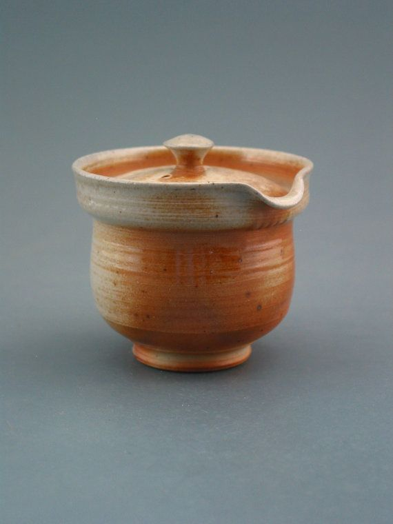 Shiboridashi Teapot 100ml. woodfired stoneware by GREENWOODSTUDIO, $36.00