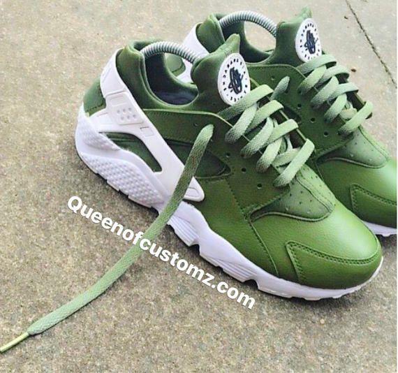 fc0c367b4474 Avocado Nike Huarache Custom Unisex