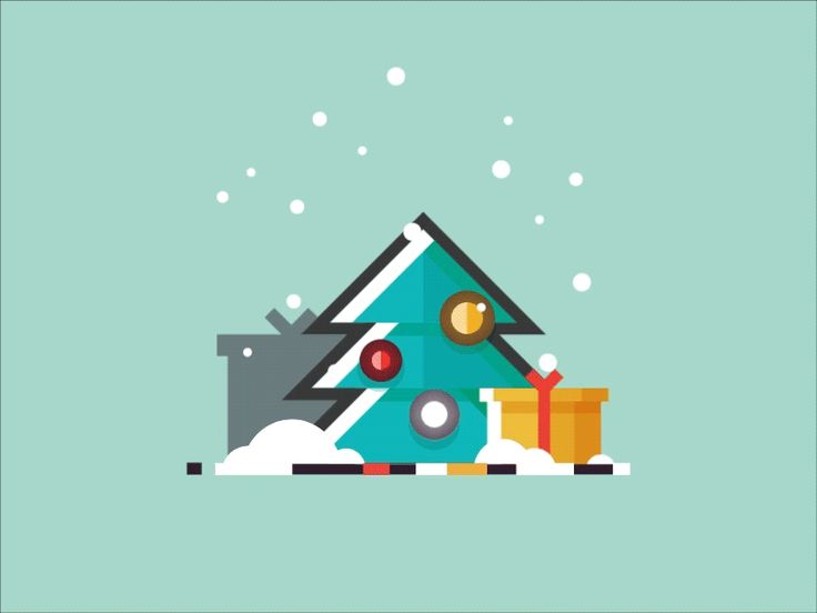 Christmas tree - motion design by Infographic Paradise #Design Popular #Dribbble #shots