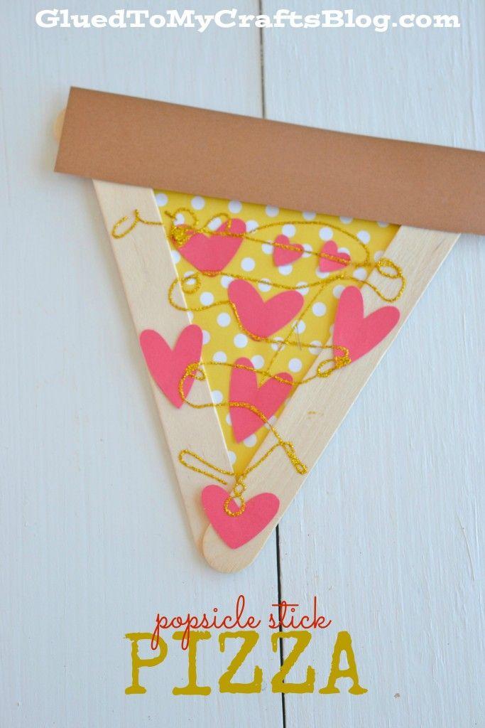 Popsicle Stick Pizza - Kid Craft