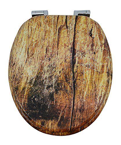 WC-Sitz Holz Rustikal. #wood #beauty