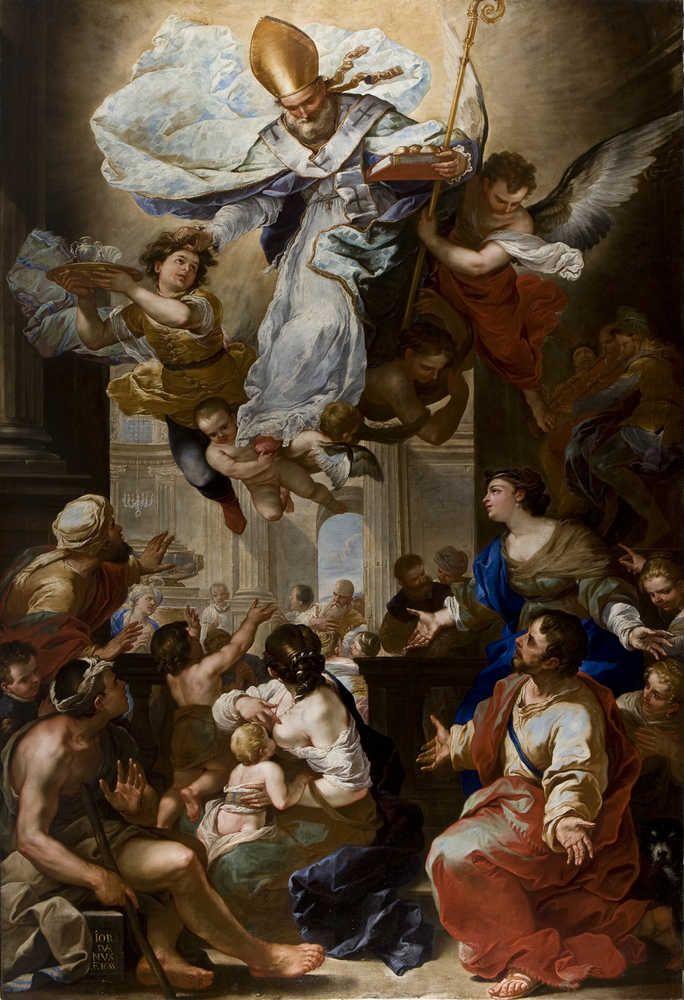 """""""Il Miracolo di San Nicola di Bari"""" 1655, Luca Giordano, Santa Brigida Church, Naples"""