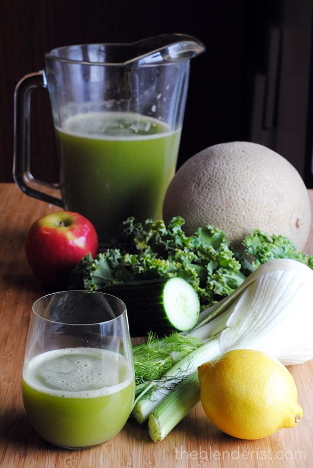The Blenderist | Fennel and Cantaloupe Green Juice | http://theblenderist.com