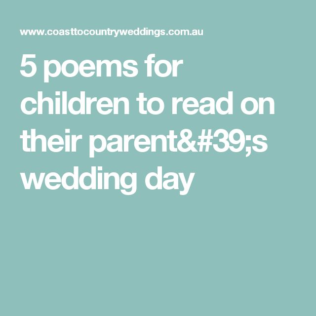 1000+ Ideas About Wedding Poems On Pinterest