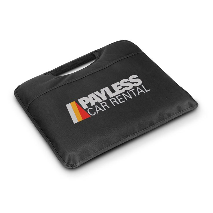 Comfortable foam padded stadium cushion with a 600D polyester cover. Has a handy carry handle and an external pocket for carrying match programmes home.