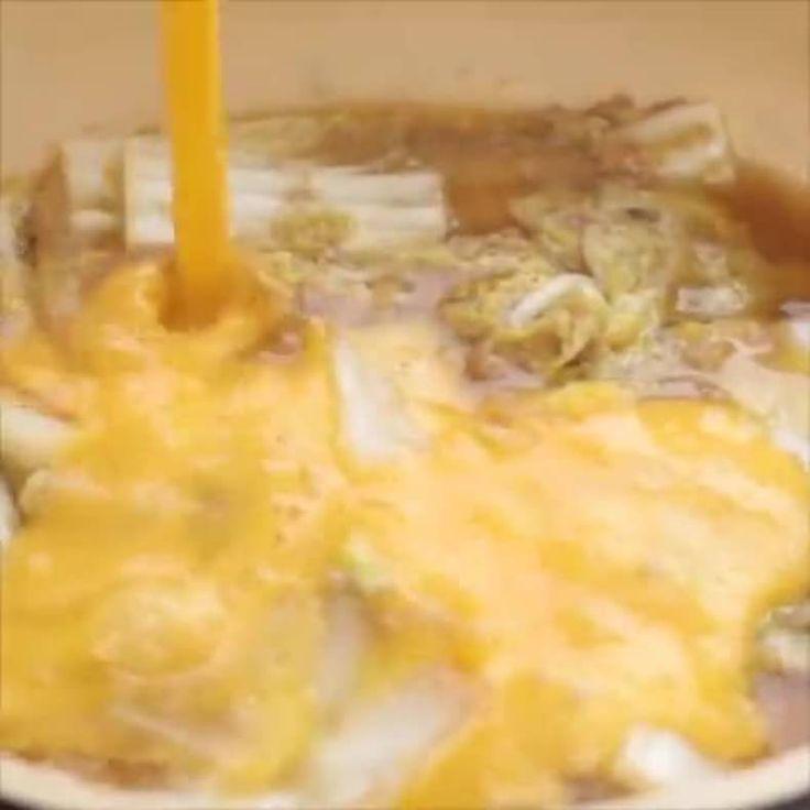 晩ご飯にオススメ 「白菜とツナの卵とじ丼」の作り方 https://lin.ee/bEQZGIE/lnnw