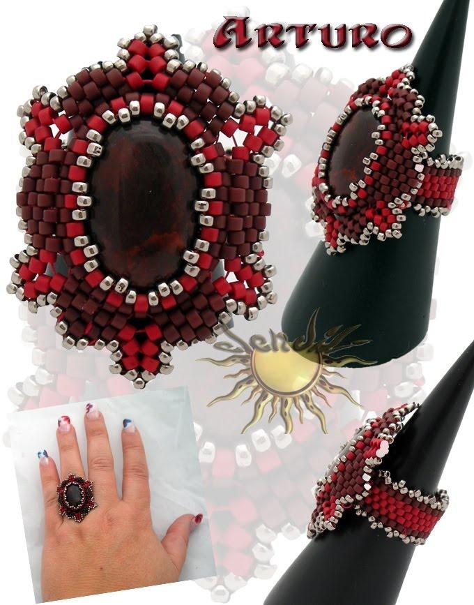 * Anillo Arturo - pattern: http://carmoper.blogspot.com.es/2010/04/tutorial-anillo-arturo.html
