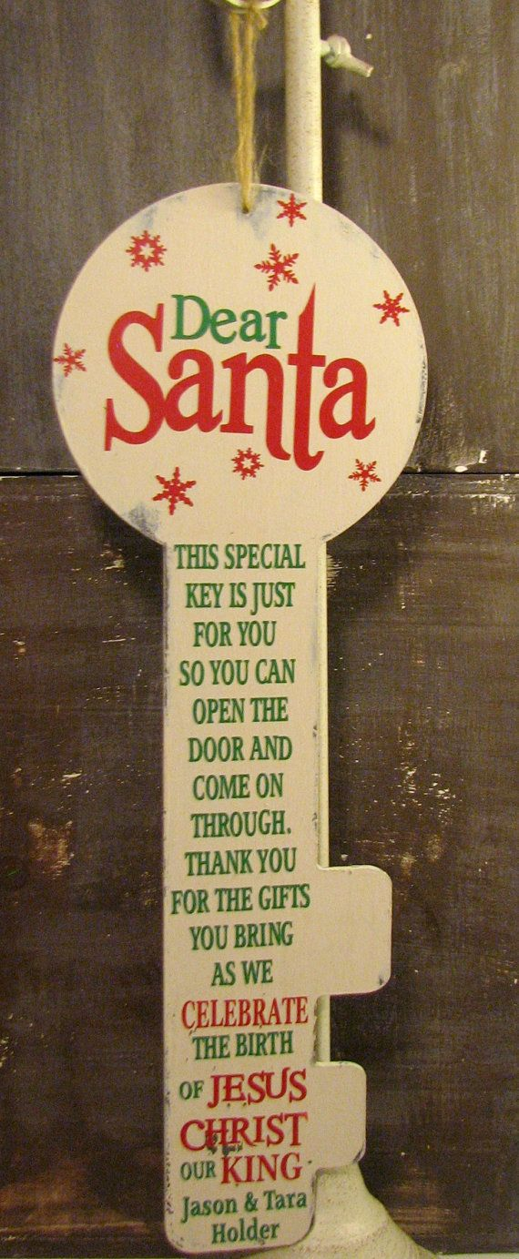 Special Santa key with Religious Poem for by KnickKnackShabbyShac