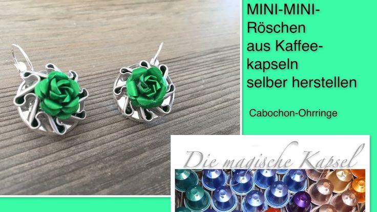 Mini-Mini-Röschen auf Cabochon-Ohrringen - Schmuck-Anleitung - die magis...