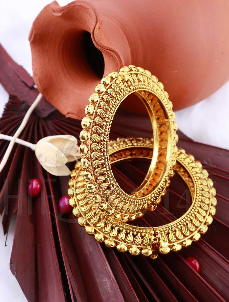 Kada With Antique Gold Finish Indian Bridal Jewelry