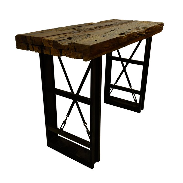 Railway Table. Railway Table reflects traditional craftsmanship in a whole unique way. Due to its naturalness the table is most versatility and combinable with any furnishing.