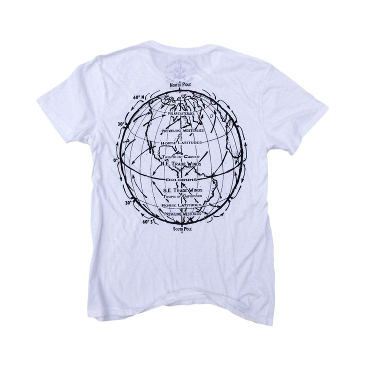 Trade Winds ll: Organic Fine Jersey Short Sleeve T-Shirt in White