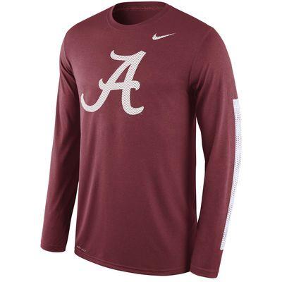 Nike Alabama Crimson Tide Crimson Legend DNA Wordmark Long Sleeve Performance T-Shirt