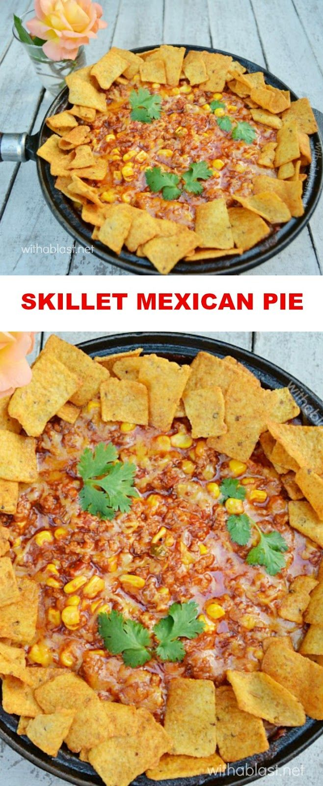 I always make this, delicious, spicy Skillet Mexican Pie when pressed for time - on the table in less than 30 minutes !