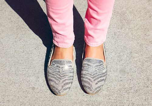 Sparkly loafers to brighten the day!