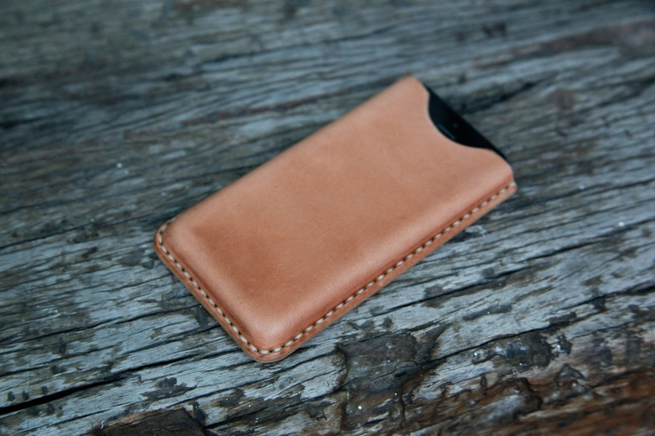 grams28 - iPhone 5 Handmade Molding Leather Case iPhone Leather sleeve tanned leather (italian leather). $48.99, via Etsy.