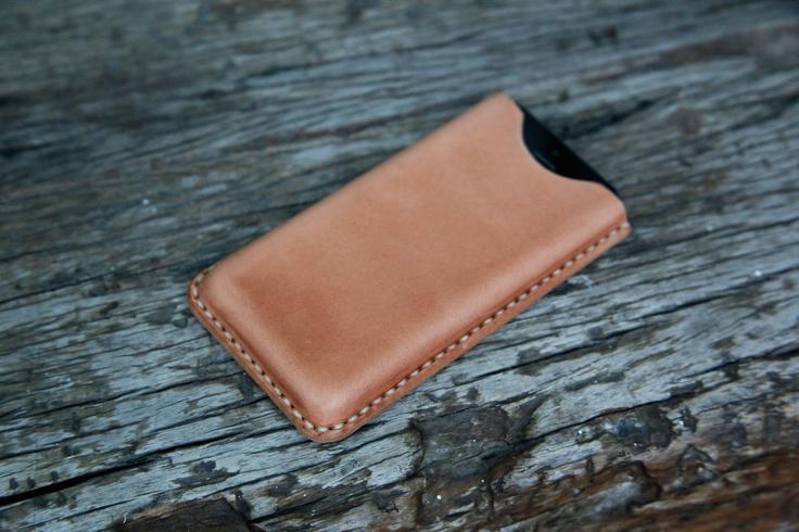 grams28 - iPhone 5 Handmade Molding Leather Case iPhone Leather sleeve tanned leather (italian leather). $48.99, via Etsy.