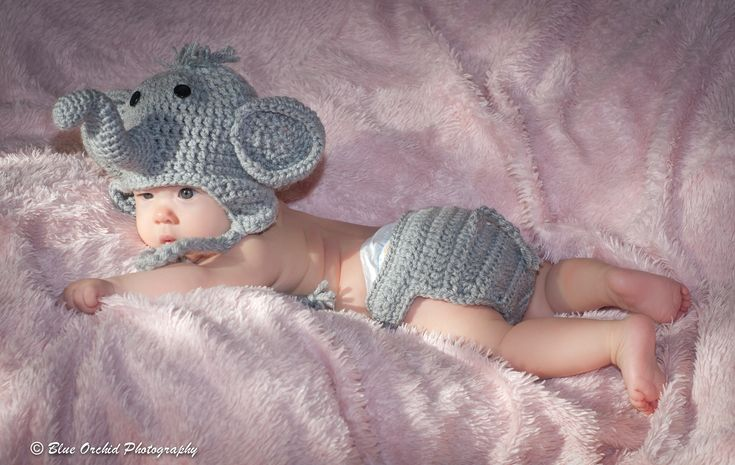 Elephants are so cute, especially baby elephants, even cute babies dressed up as baby elephants.   So why not order that mom to be an adorable Elephant costume. This costume comes in size Newborn, and has an adjustable diaper cover.  It is perfect for your newborn photos, or just something cu...