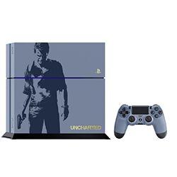 Sony PS 4-1 TB Grau-Blau/Uncharted 4 Limited Edition