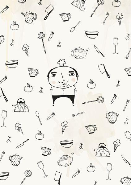 Mini Chef Art Print