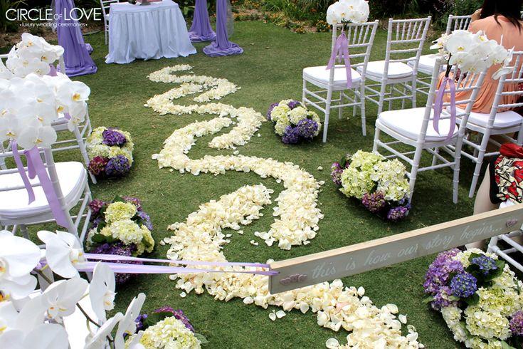 Rose Petal Aisle www.circleofloveweddings.com.au