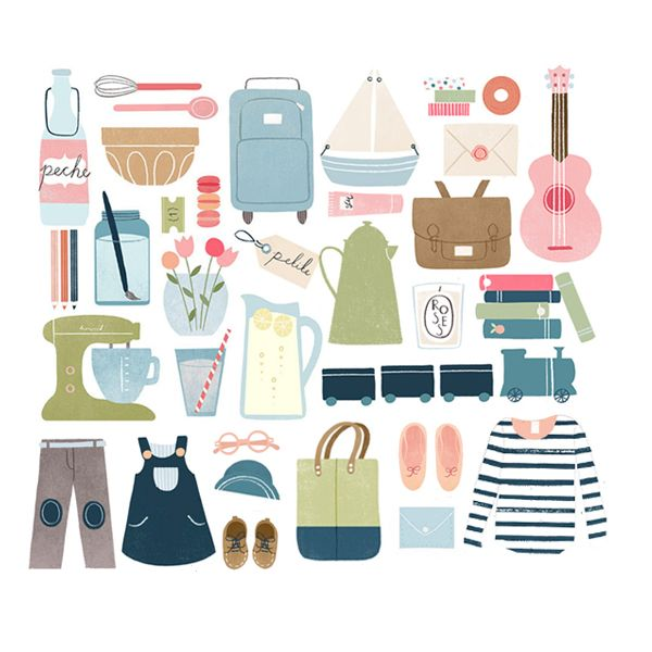 Quirky Cute Vector Illustration Everyday Items · Clothes · Travel · Adventure · Home · Inspiration for Illustration + Art + Graphic Design Projects