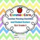Second Grade Common Core ELA Checklists and Student Rosters! An excellent tool for planning how you will address the Common Core Standards for Engl...