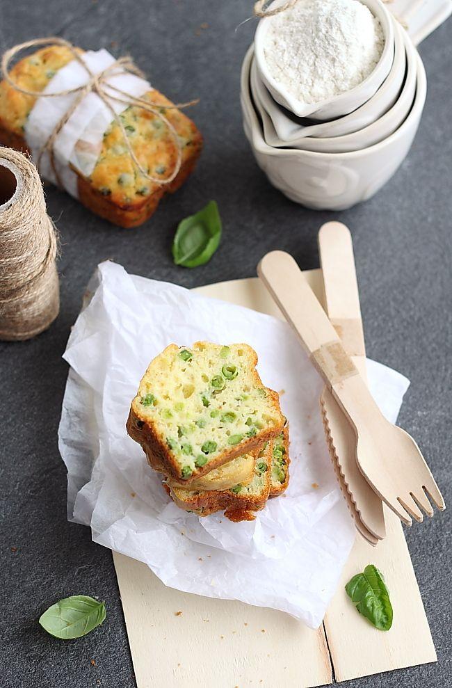 Cake petit pois et basilic en 2020 | Idée recette, Recette cake salé, Gâteaux alimentaires