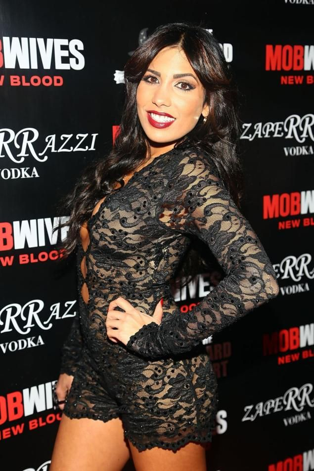 """NEW YORK, NY - DECEMBER 05:  Natalie Guercio  attends """"Mob Wives"""" Season 4 premiere  at Greenhouse on December 5, 2013 in New York City.  (P..."""