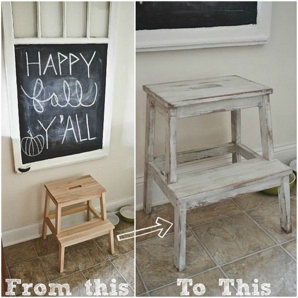 Ikea Hack: Bekvam stepstool makeover - easy makeover & this stool is less than $20 from Ikea!! - lizmarieblog.com:
