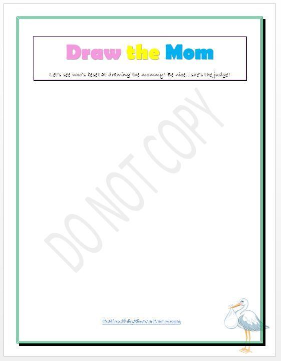 Draw The Mommy Baby Shower Game