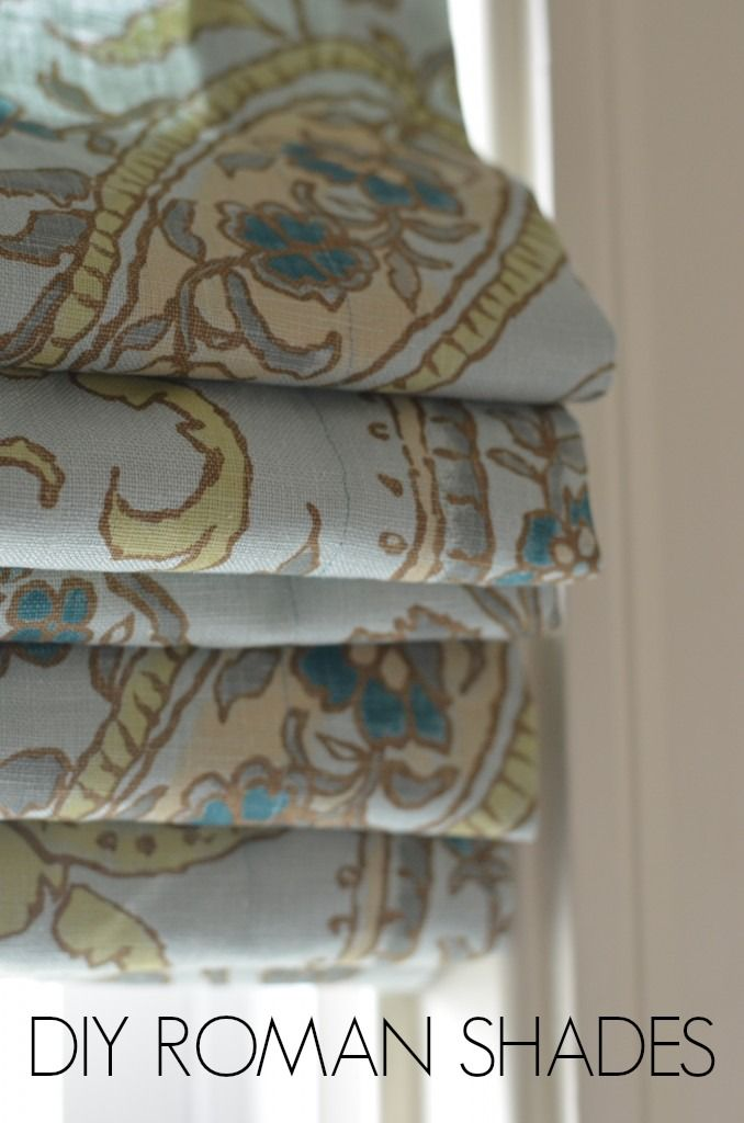 DIY roman shades... not much sewing skill required!