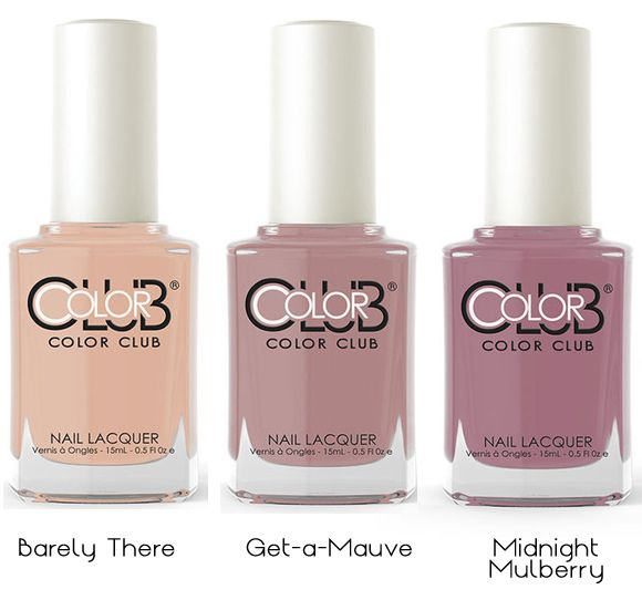 Color Club Shift Into Neutral: unghie delicate http://www.tentazioneunghie.it/color-club-shift-into-neutral-unghie-delicate/ #newcollection #nails #nail #nailpolish #colorclub barely there Get-a-mauve Midnight Mulberry