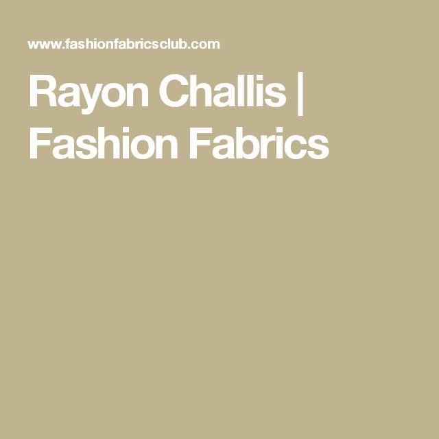Rayon Challis | Fashion Fabrics