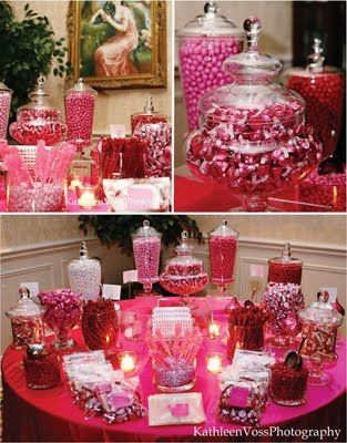 Candy table :) We would do purples and fall colors though ...