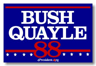 My school at the time had us do a mock election for the 1988 Presidential election. Bush/Quayle won