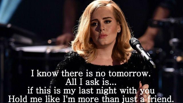 Adele - Last Nite Lyrics   Musixmatch