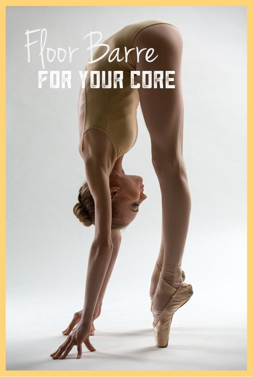 Floor barre video for the core and the corps