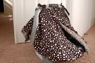 car seat canopy with opening