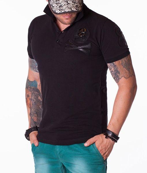 Philipp Plein Tricouri Polo - PP78 tricou polo negru