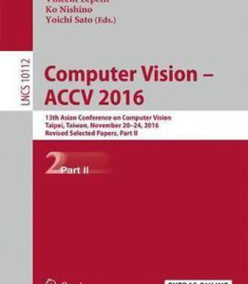 Computer Vision - Accv 2016 PDF