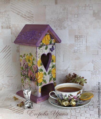 Чайный домик Анютины глазки - чайный домик,чайный домик декупаж,чайный короб