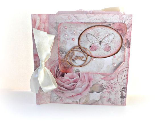 Love mini album Wedding photo album Square 6x6 by sweetpaperlife