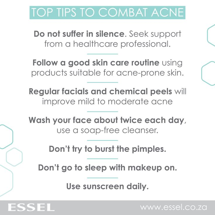 Here are some of our top tips to combat #acne.  http://essel.co.za