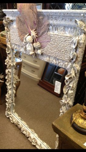 * Exquisite Seashell Mantel Mirror To Bring The Beach Home